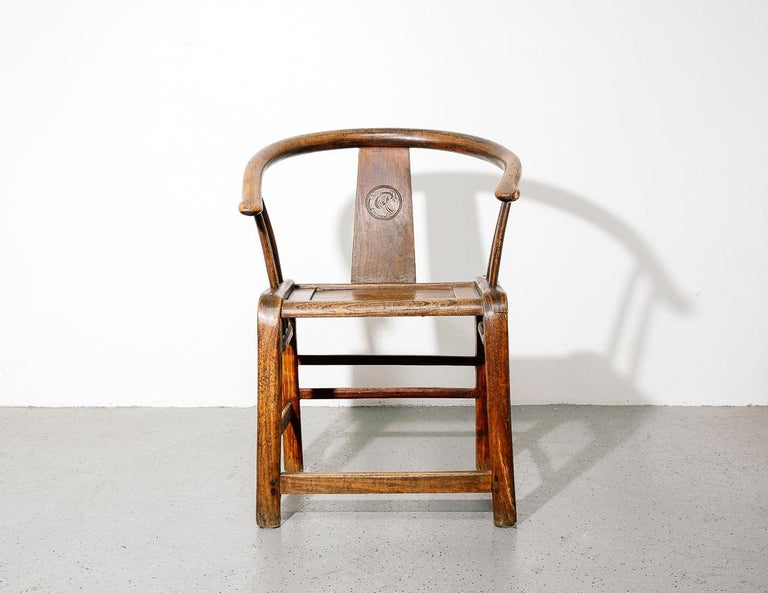 Antique armchair after Ming Dynasty Horseshoe back chair.  Measure: 20.5