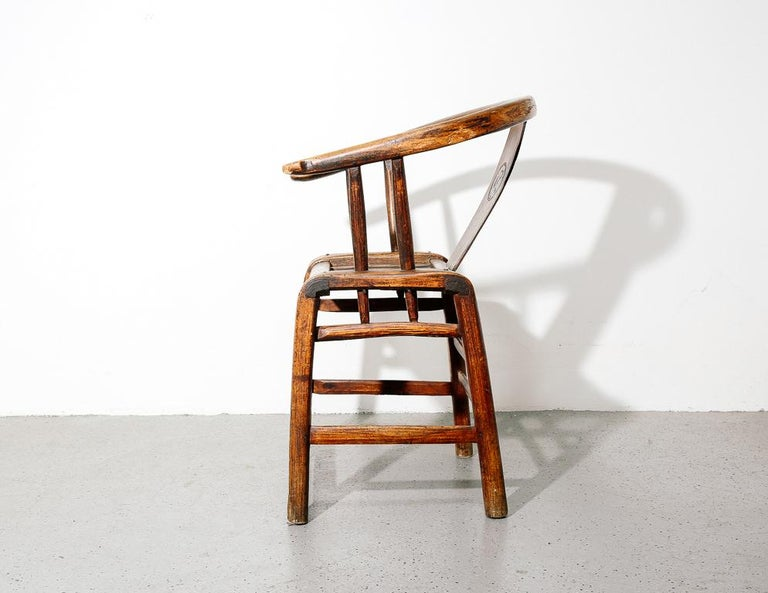 18th Century and Earlier Ming Horseshoe Chair For Sale