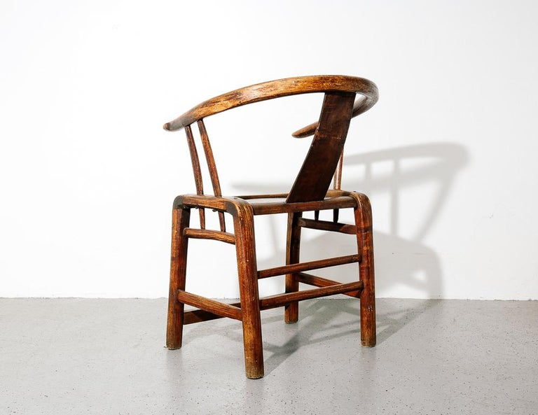 Elm Ming Horseshoe Chair For Sale
