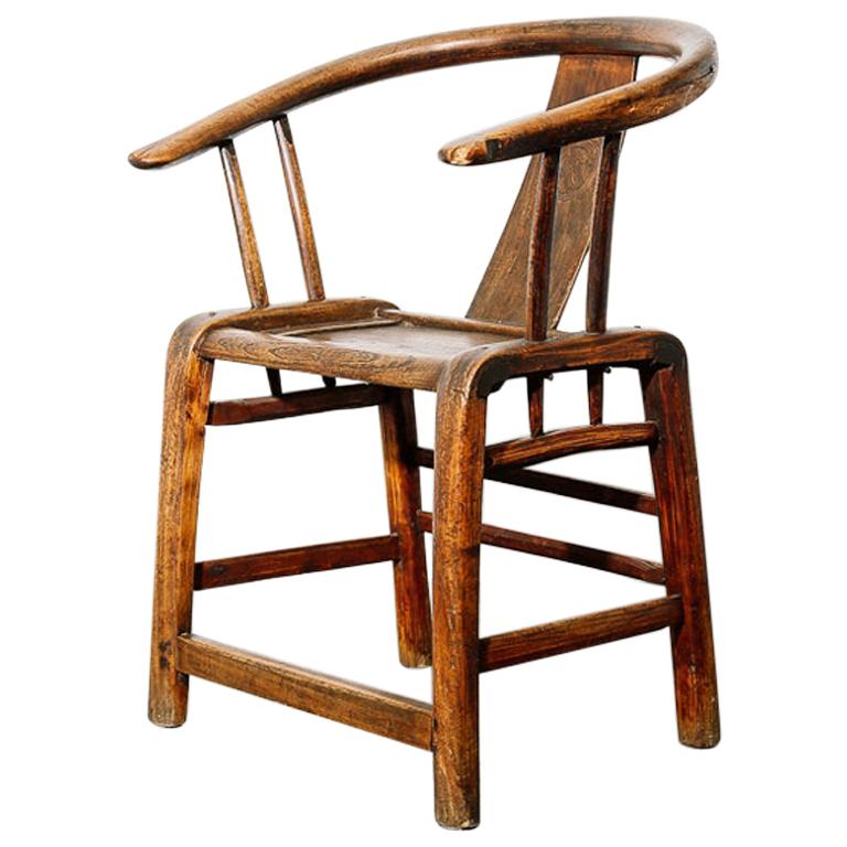 Ming Horseshoe Chair For Sale