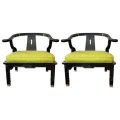 Ming Style Chairs by James Mont for Century Furniture, a Pair