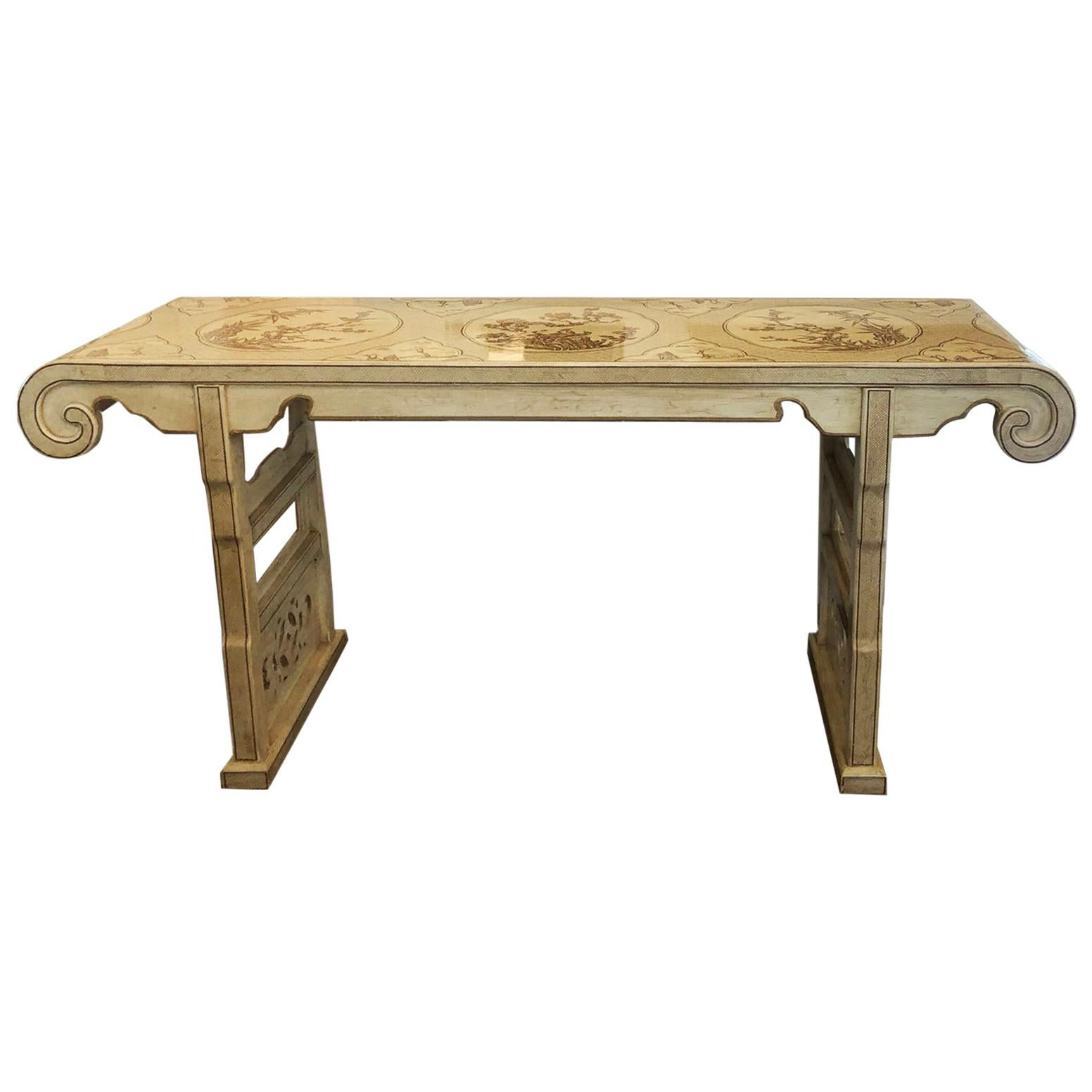 Ming Treasures Drexel Heritage chinoiserie Sofa Table Console Table
