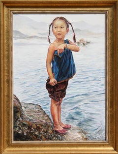 Ma... I Want to Swim!, Photorealist Painting by Wai Ming