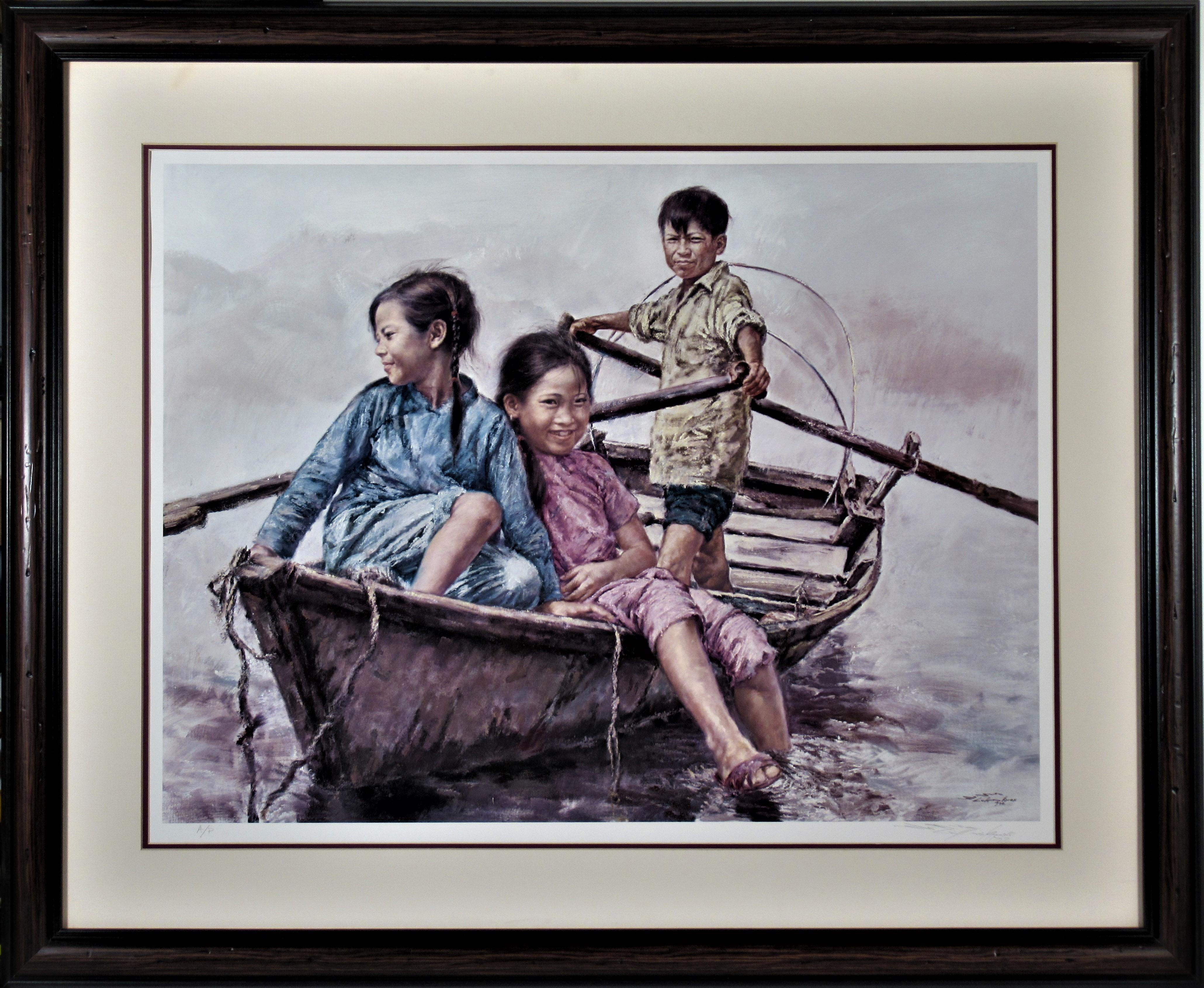 Children in a Boat