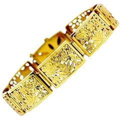 Ming's Hawaii 14 Karat Yellow Gold Four Seasons Sectional Bracelet
