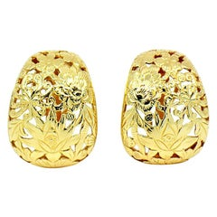 Ming's Hawaii Four Seasons Earrings 14 Karat Yellow Gold
