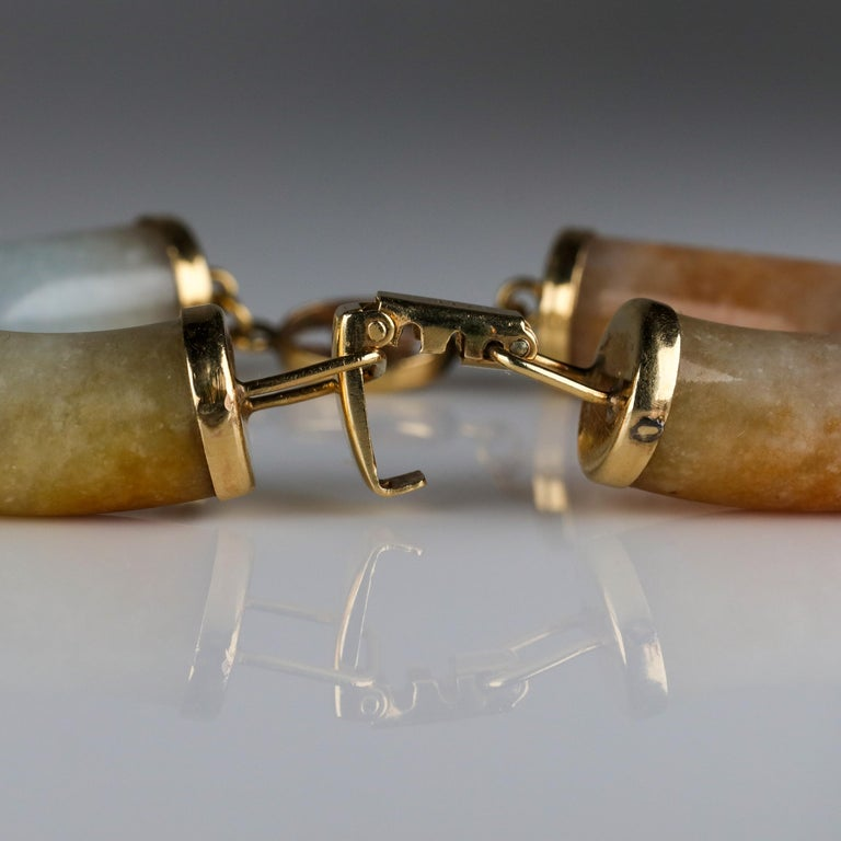 Ming's Jade Link Bracelet Early Unsigned For Sale 5