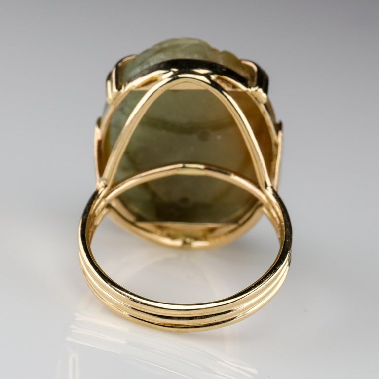 Ming's Jade Ring from Midcentury For Sale 7