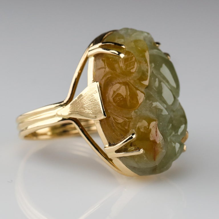 Modern Ming's Jade Ring from Midcentury For Sale