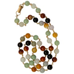 Ming's Multi-Color Jade Necklace, circa 1950s