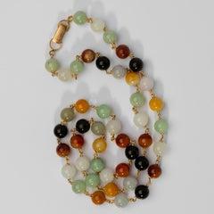 Ming's Multi-Color Jade Necklace, circa 1950s