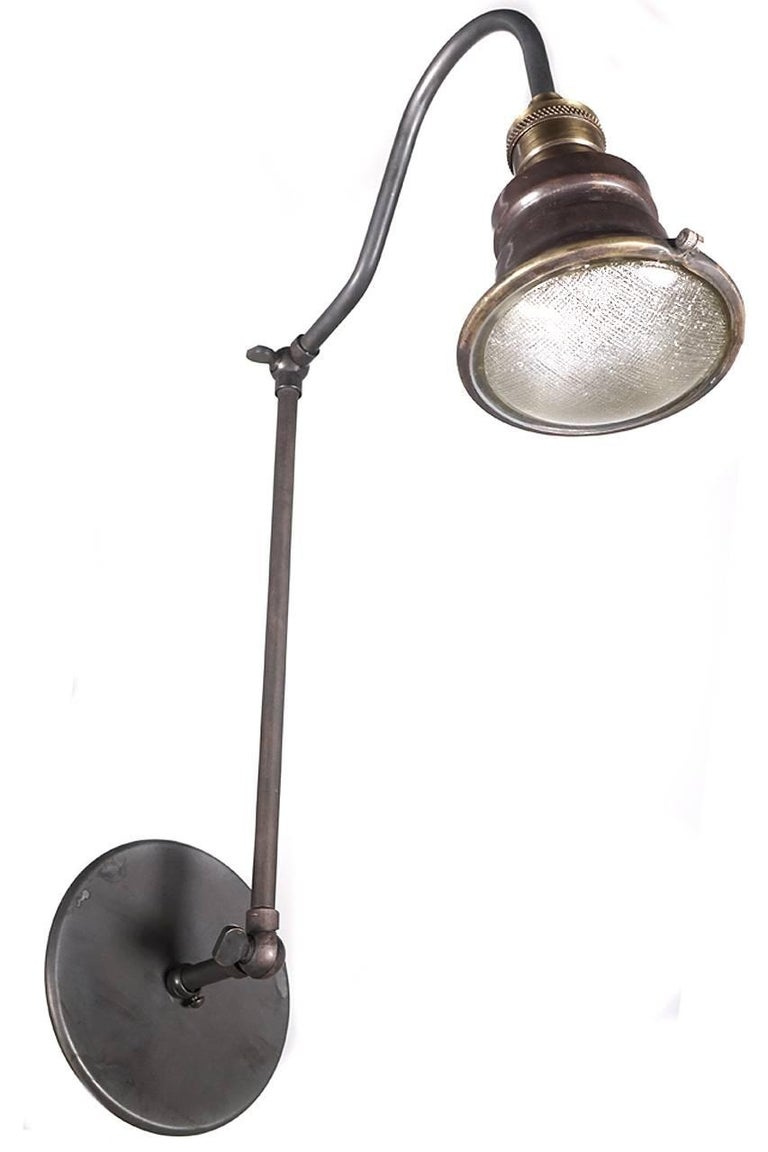 Industrial Mini Articulated Wall Lights For Sale