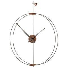Mini Barcelona Clock, Walnut