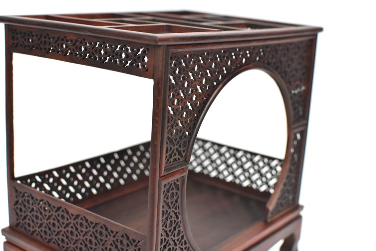 Mini Chinese Moon Bed, Wenge Wood Model For Sale 6