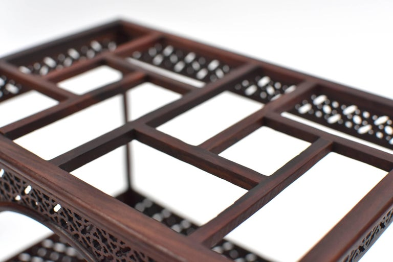Mini Chinese Moon Bed, Wenge Wood Model For Sale 7