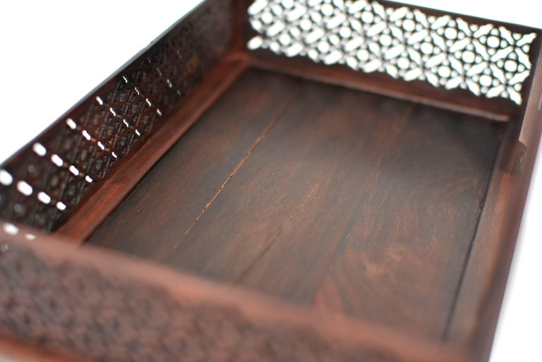 Mini Chinese Moon Bed, Wenge Wood Model For Sale 9
