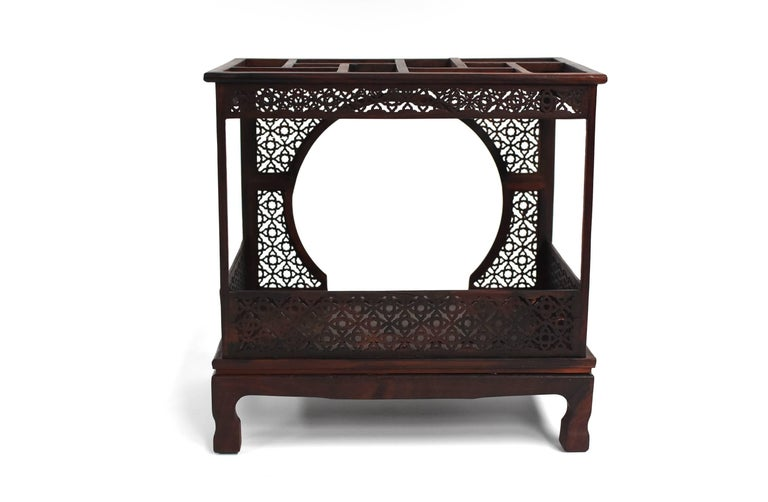 Mini Chinese Moon Bed, Wenge Wood Model For Sale 12