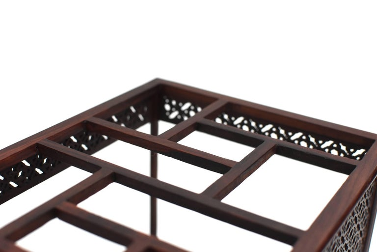 Mini Chinese Moon Bed, Wenge Wood Model For Sale 13