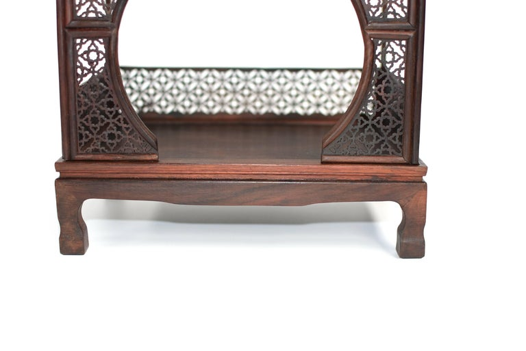 Contemporary Mini Chinese Moon Bed, Wenge Wood Model For Sale