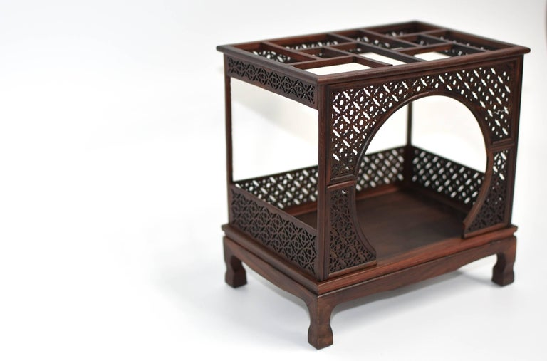 Mini Chinese Moon Bed, Wenge Wood Model For Sale 1