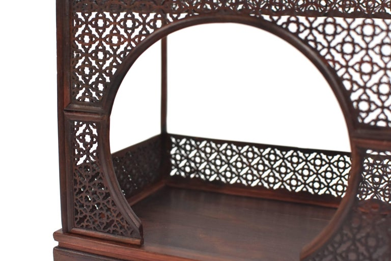 Mini Chinese Moon Bed, Wenge Wood Model For Sale 2