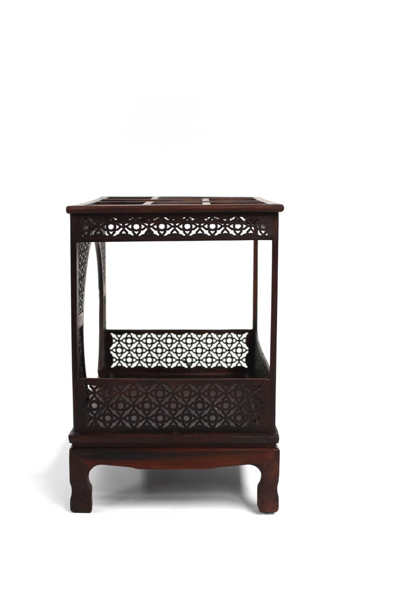 Mini Chinese Moon Bed, Wenge Wood Model For Sale 4