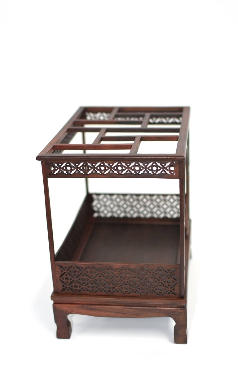 Mini Chinese Moon Bed, Wenge Wood Model For Sale 5