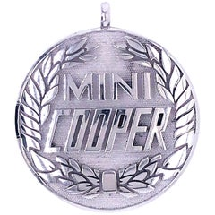 Mini Cooper Solid Sterling Silver Charm