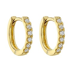 Mini Diamond Hoop Earrings '0.10ct tw'