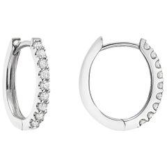 Mini Diamond Hoop Earrings '0.20 Carat'