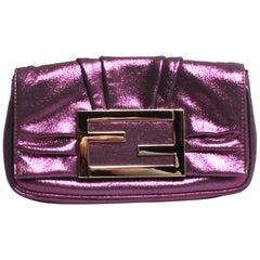 Mini Fendi violet metallic Mia bag