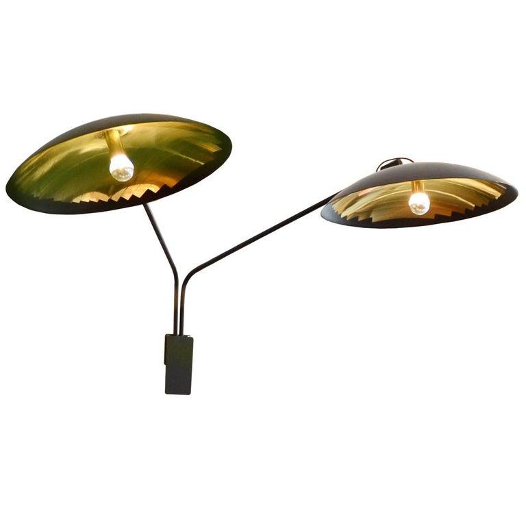 Mini Hatchlight Double Arm Reflective Wall Light Sconce