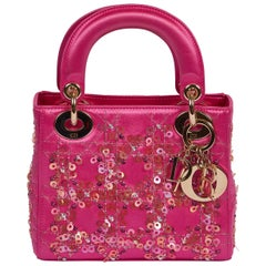 Mini Lady Dior Couture Hot Pink Sequin Bag