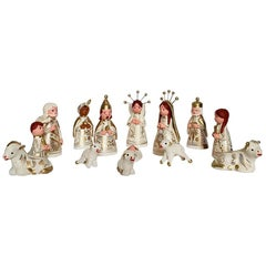 Mini Little Mexican Artisanal Clay Nativity Set Folk Art Christmas Decoration