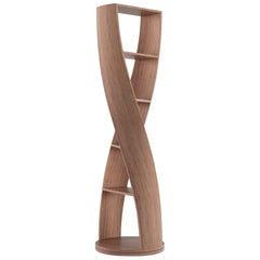 MYDNA Bookcase Mini — Walnut Wood Finish