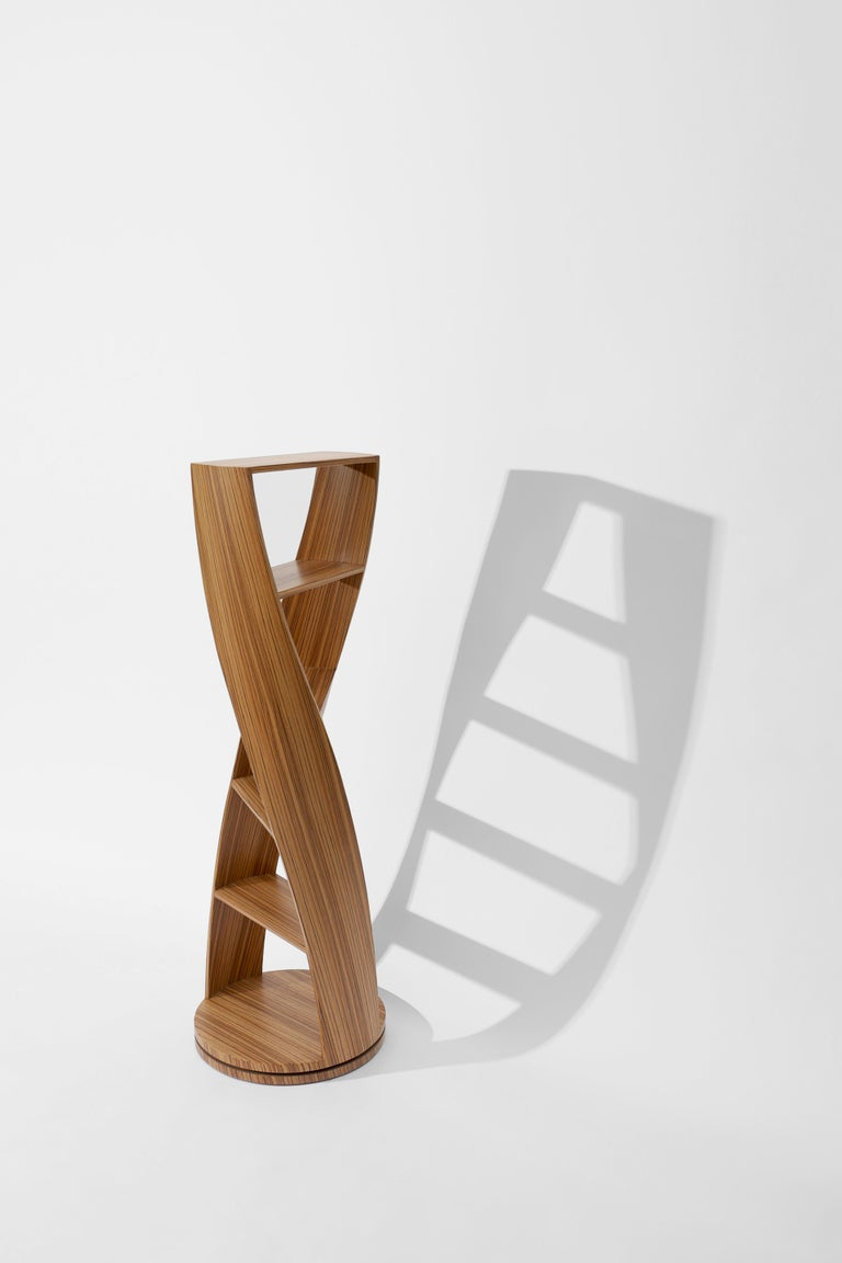 Plywood Zebrano Bookcase and Storage System Mini MYDNA Collection by Joel Escalona For Sale
