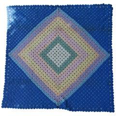 Mini Pieced Diamond in a Square YoYo Quilt