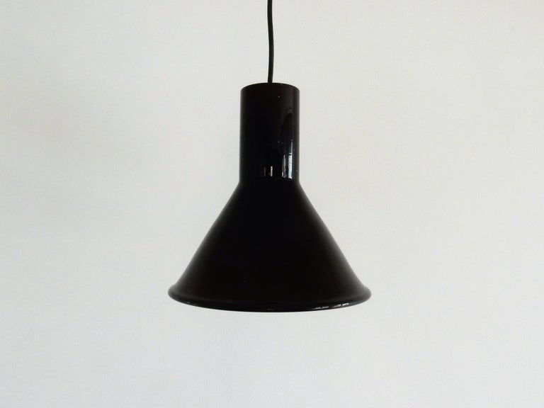 Danish Mini P&T Pendant Lamp by Michael Bang for Holmegaard, Denmark, 1970s For Sale