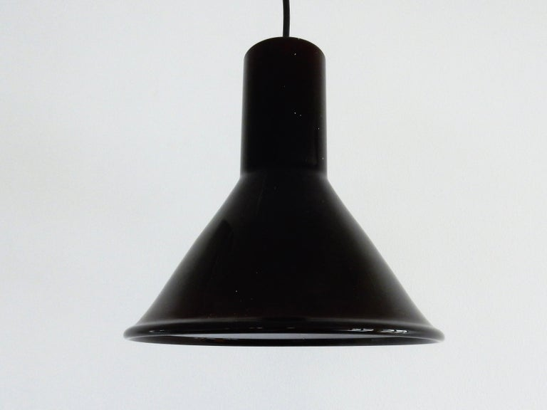 Late 17th Century Mini P&T Pendant Lamp by Michael Bang for Holmegaard, Denmark, 1970s For Sale