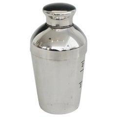 Mini Silver Plate Art Deco Shot Glass Size Jigger Cocktail Shaker by Napier