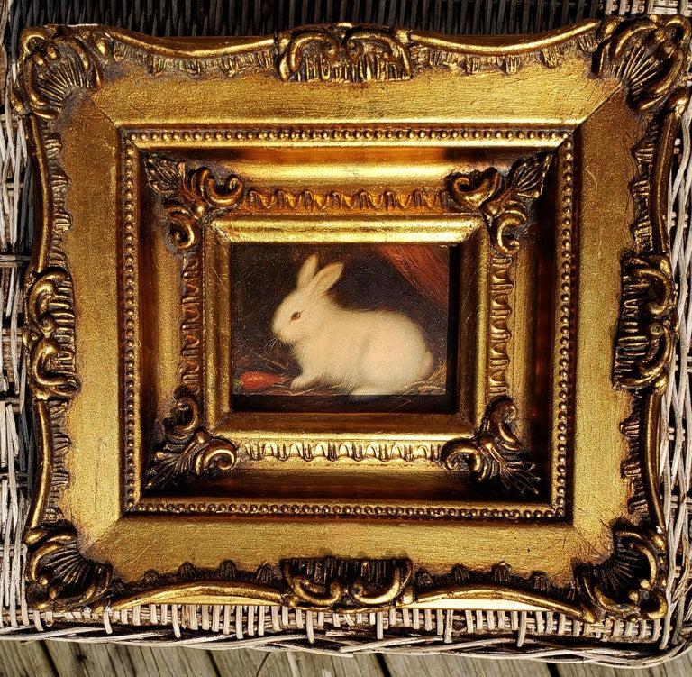 Miniaiture Paintings of Rabbits, a Pair 2