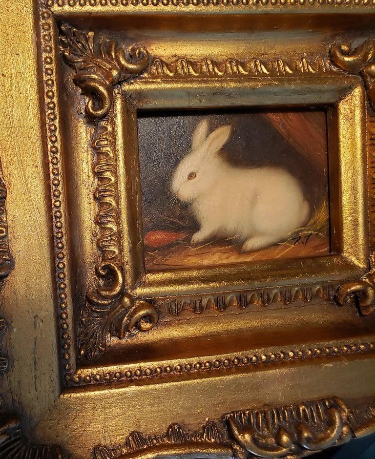 Miniaiture Paintings of Rabbits, a Pair 3