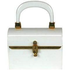 Miniature 1960's Plastic Box Bag, Saks Fifth Ave.