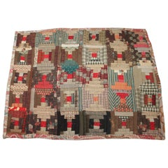 Miniature 19th Century Log Cabin Doll Quilt