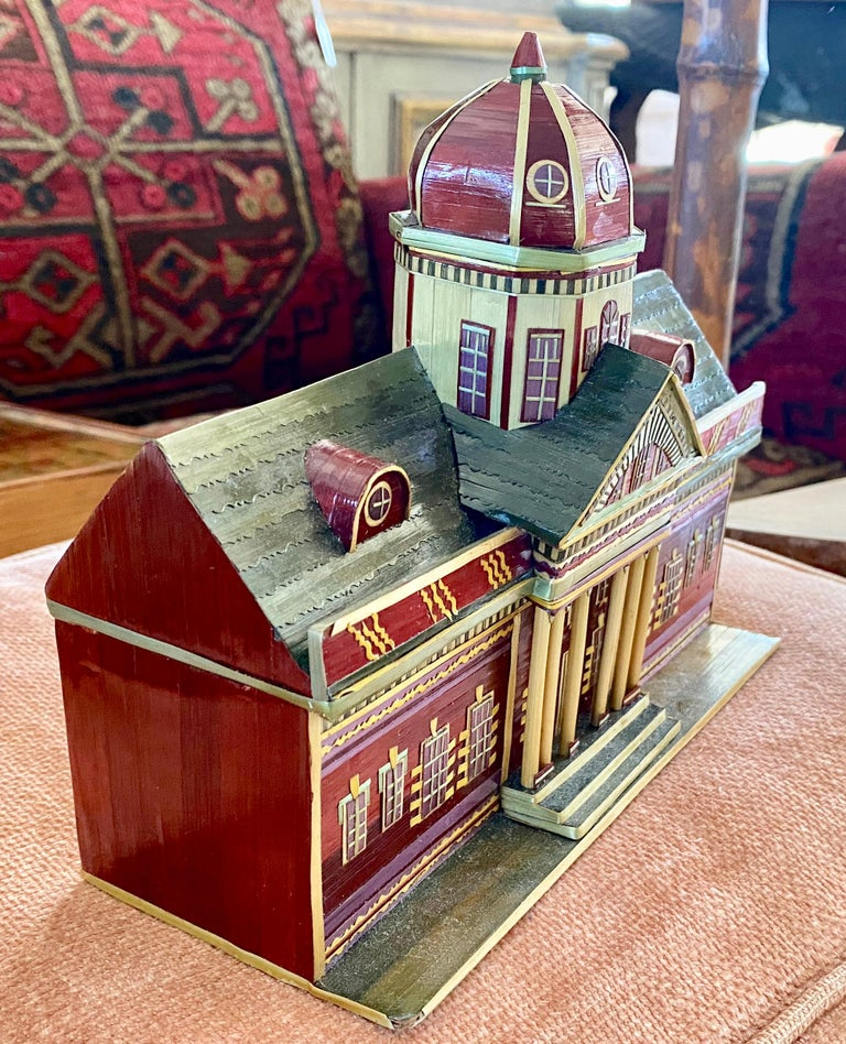 Miniature Painted House Shaped Stacking Box 5
