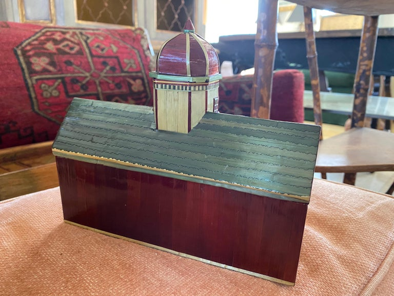 Miniature Painted House Shaped Stacking Box 6