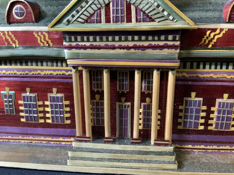 Wood Miniature Painted House Shaped Stacking Box