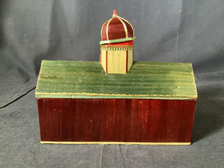 Miniature Painted House Shaped Stacking Box 2