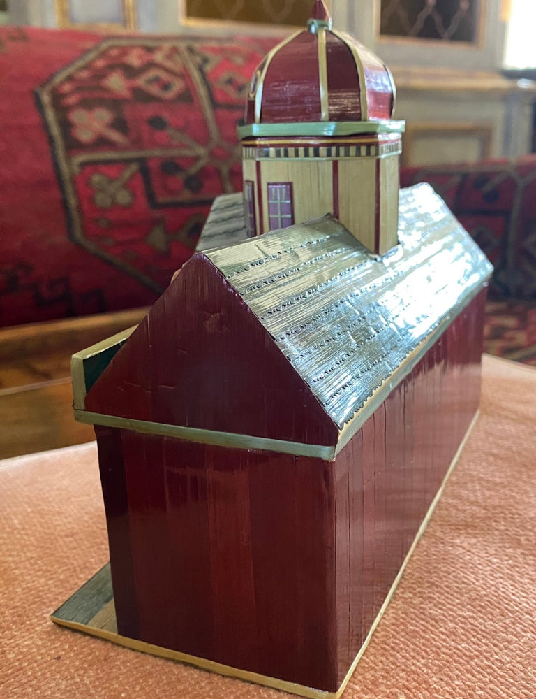 Miniature Painted House Shaped Stacking Box 3