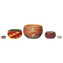 Miniature Bveaded Native American Baskets